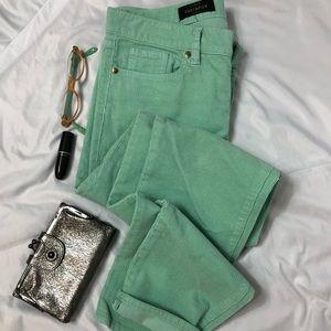 🎉HP! J Crew Toothpick cord Mint Green Corduroy A3